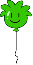 Globo de Puffle Verde icono