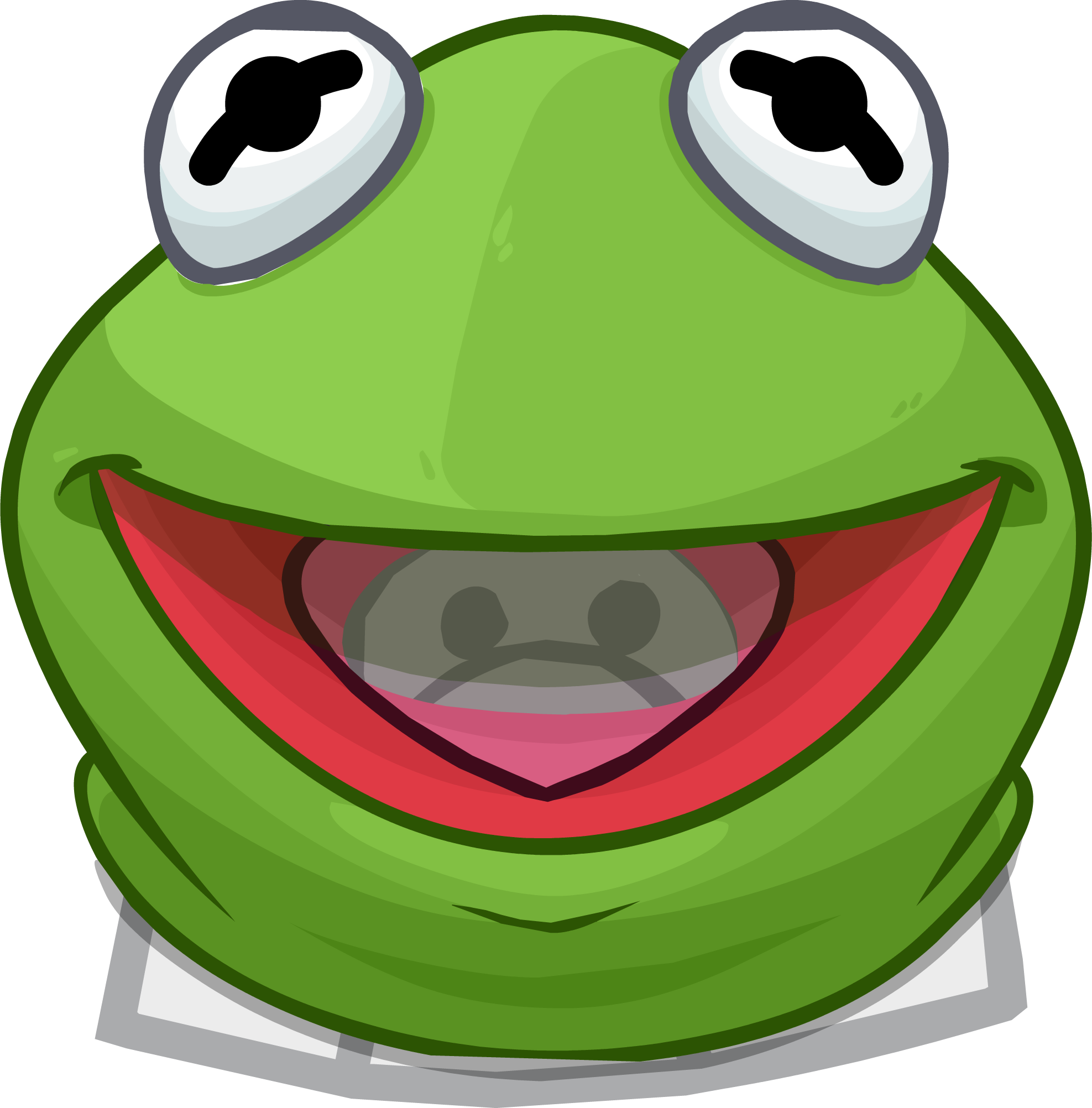 Image Kermit The Frog Head Clothing Icon Club Penguin Wiki Fandom Powered Wikia
