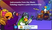 Music Catalog Membership Error