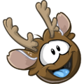 Reindeer Puffle laughing