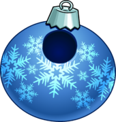 Blue Snowflake Bauble clothing icon ID 24004