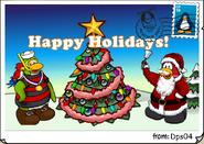 Happy Holidays postcard dps