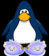 Pantuflas de Puffle Fantasma tarjeta