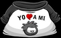 Camiseta Yo Amo a mi Puffle Negro icono