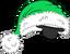 Gorro navideño verde