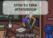 Polo Field: Tiempo para tomar asistencia