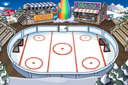 Rainbow Puffle Party Ice Rink