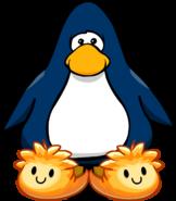 Pantuflas de Puffle Naranja tarjeta