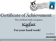 Congrats kyfur 2