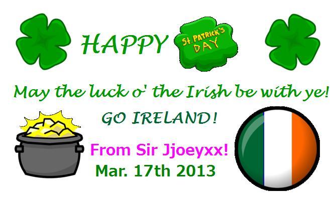 Happy St. Patrick's Day 2013!