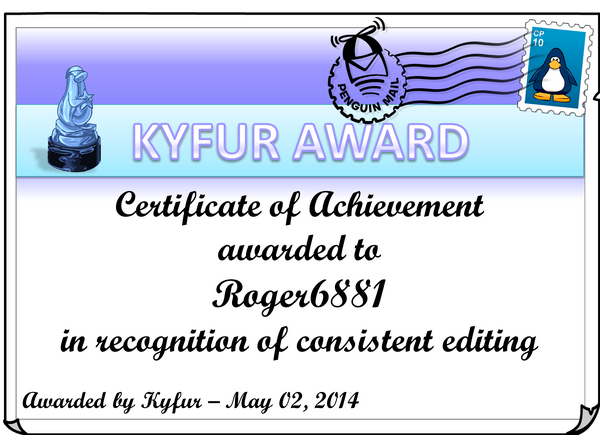 Roger6881Award