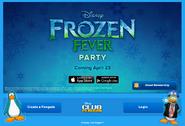 FrozenFeverPartyLoginScreen