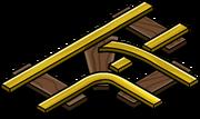Gold Railroad Intersection sprite 003