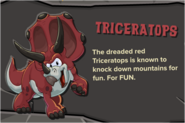 Red Triceratops Description