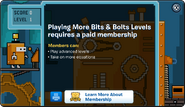 Bits and Bolts Membership Error