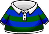 Green Striped Rugby Shirt