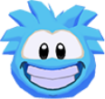 Blue puffle 3d icon