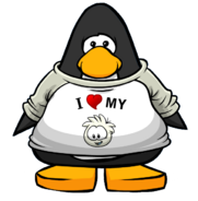 I Heart My White Puffle T-Shirt from a Player Card