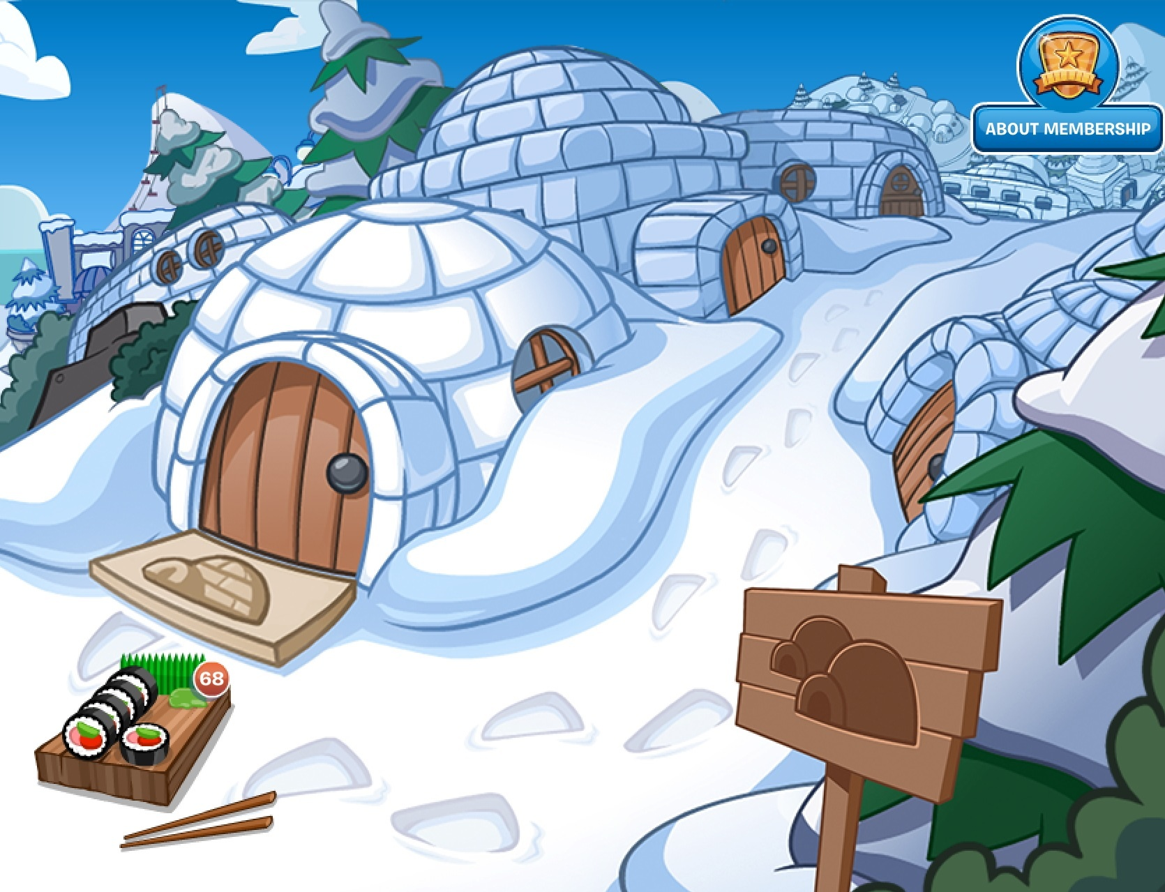 G Club Penguin Wiki Igloo Village | Club P...