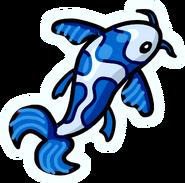 Pin de Pez Koi Azul