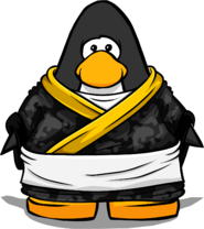 Sushi Master Uniform from a Player Card
