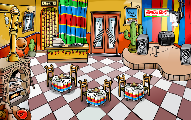 Image result for winter fiesta club penguin pizza parlor
