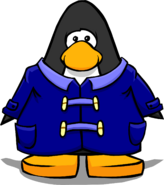Blue Duffle Coat from a Player Card