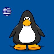 Greece Flag on Player Card
