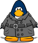 Abrigo de Detective Gris tarjeta