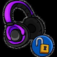 Auriculares violetas