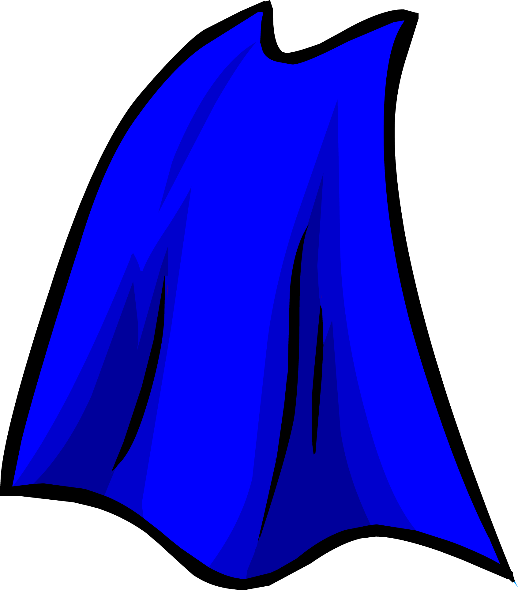 Image result for club penguin blue superhero cape png