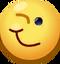 Emoticón Clásico de cara guiñando un ojo