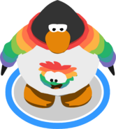 I Heart My Rainbow Puffle T-Shirt ingame