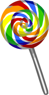 Rainbow Lollipop Puffle Food