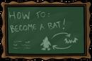 School chalkboard hallo mon