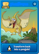 Yellow Pteranodon Player Card