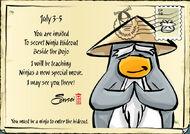 Sensei Mascot Invite postcard