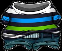 Conjunto de Skater a Rayas icono