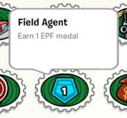 Field agent stamp book