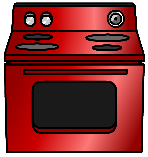 Shiny Red Stove