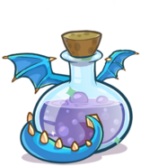 407px-Medieval 2013 Potions Blue Puffle Dragon