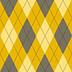 Argyle Amarillo Pantalones Lujosos