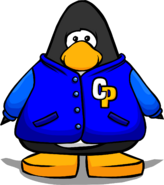 Blue Letterman Jacket from a Player Card
