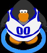 Blue track field uniform game
