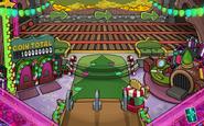 Estacion de trenes navideña