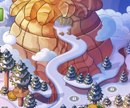 Puffle Mountain as seen from Puffle Wild map