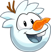 Snowman Puffle up-close