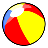 Beach Ball Pin