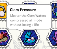 Clam pressure stamp book