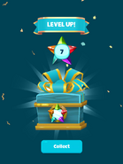 Level up pack screen
